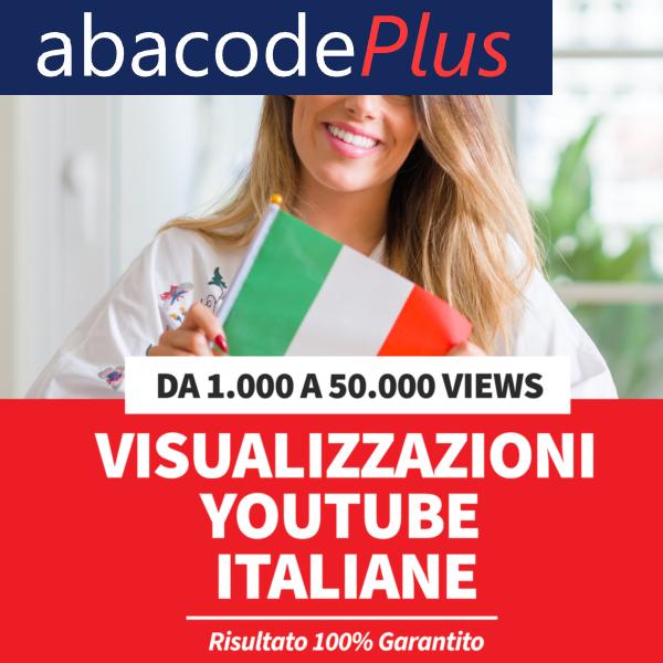 Comperare visualizzazioni YouTube Italiane
