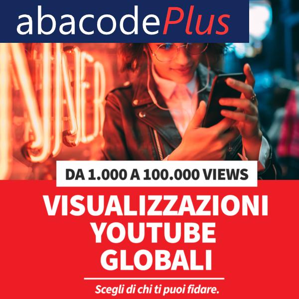 Comperare visualizzazioni YouTube Globali