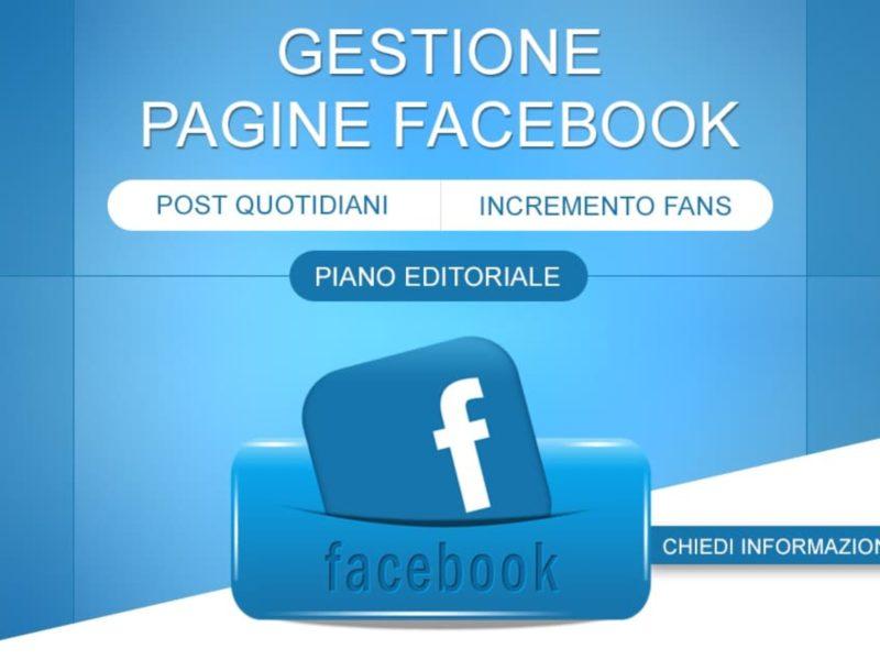 Gestione pagina Facebook e marketing Ads